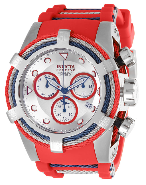 Invicta Men's 27146 Bolt Quartz Chronograph Silver, White, Red Dial Watch