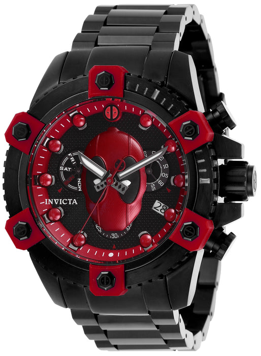 Invicta Men's 27155 Marvel Quartz Chronograph Black, Red Dial Watch
