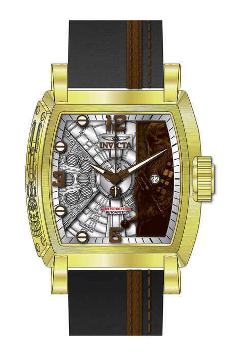 Invicta Men's 27171 Star Wars Automatic 3 Hand Silver, Brown Dial Watch