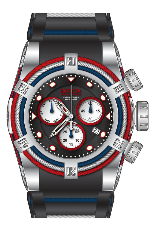 Invicta Men's 27229 Bolt Quartz Chronograph Black, White, Red Dial Watch