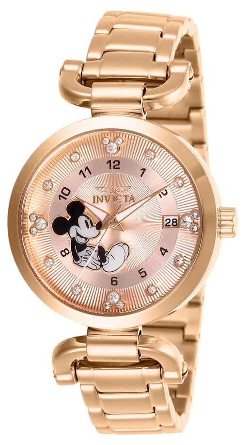 Invicta Women's 27292 Disney  Quartz 3 Hand Rose Gold Dial Watch