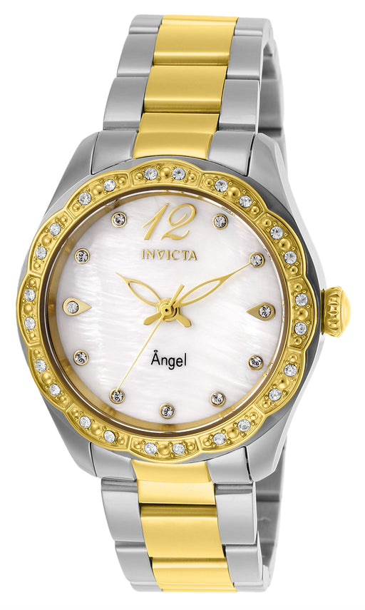 Invicta Women's 27448 Angel Quartz 3 Hand White Dial Watch