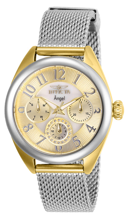 Invicta Women's 27452 Angel Quartz Chronograph Gold, White Dial Watch