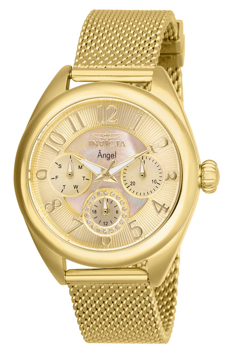 Invicta Women's 27455 Angel Quartz Chronograph Gold Dial Watch