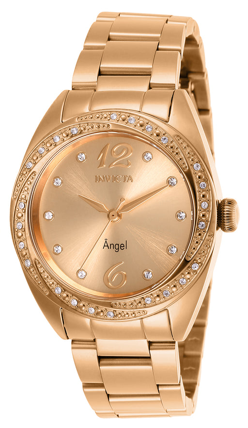 Invicta Women's 27459 Angel Quartz 3 Hand Rose Gold Dial Watch