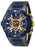 Invicta Men's 27484 Marvel Quartz Multifunction Gunmetal, Dark Red, Yellow, Blue Dial Watch