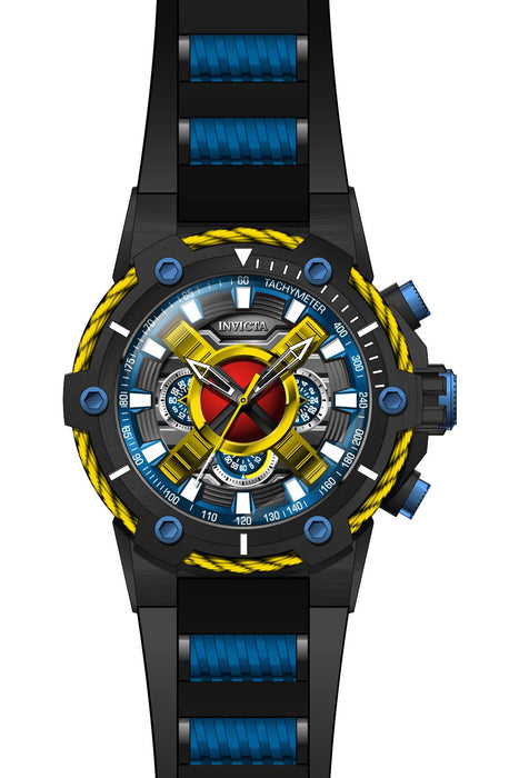 Invicta Men's 27488 Marvel Quartz Multifunction Dark Red, Yellow, Blue, Gunmetal Dial Watch