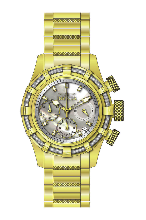 Invicta Women's 27492 Bolt Quartz Chronograph White Dial Watch