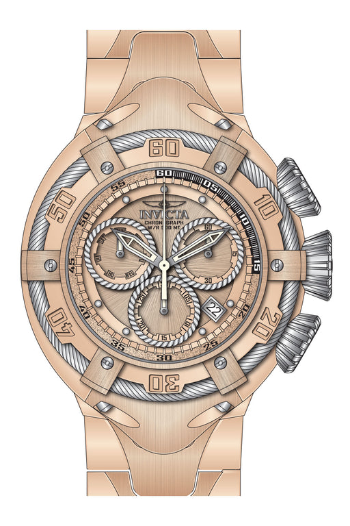 Invicta Men's 27520 Bolt Quartz Chronograph Light Rose Gold, Silver Dial Watch