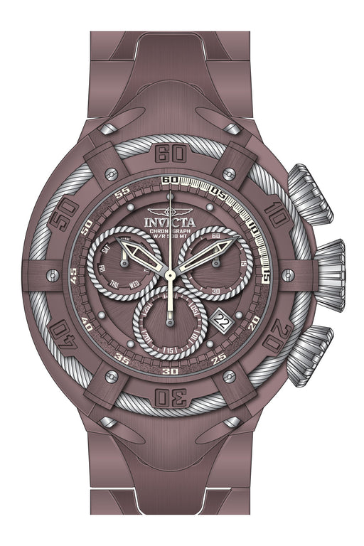 Invicta Men's 27521 Bolt Quartz Chronograph Brown, Silver Dial Watch