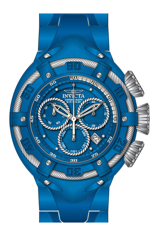 Invicta Men's 27523 Bolt Quartz Chronograph Blue, Silver Dial Watch