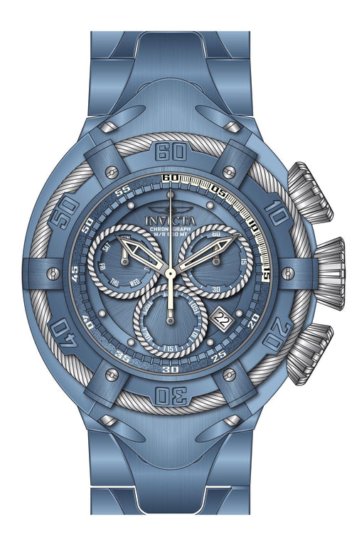 Invicta Men's 27524 Bolt Quartz Chronograph Light Blue, Silver Dial Watch