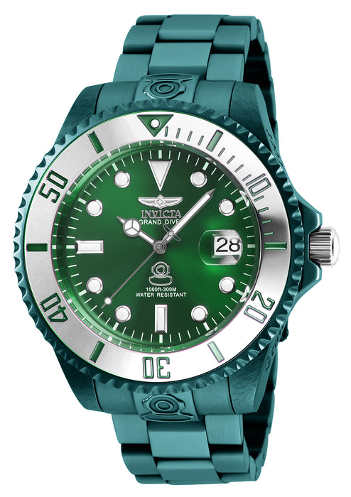 Invicta Men's 27534 Pro Diver Automatic 3 Hand Green Dial Watch