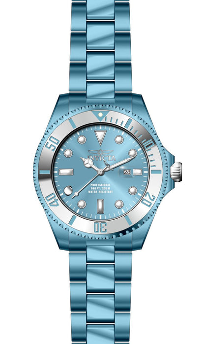 Invicta Men's 27539 Pro Diver Quartz 3 Hand Light Blue Dial Watch