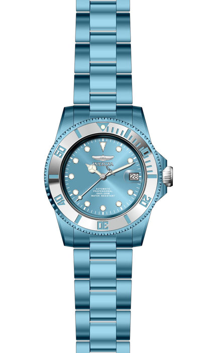 Invicta Men's 27545 Pro Diver Automatic 3 Hand Light Blue Dial Watch