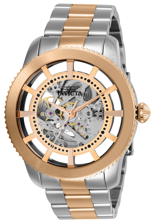 Invicta Men's 27553 Objet D Art Automatic 3 Hand Silver Dial Watch