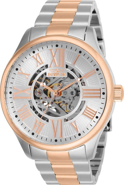 Invicta Men's 27558 Objet D Art Automatic 3 Hand Silver Dial Watch