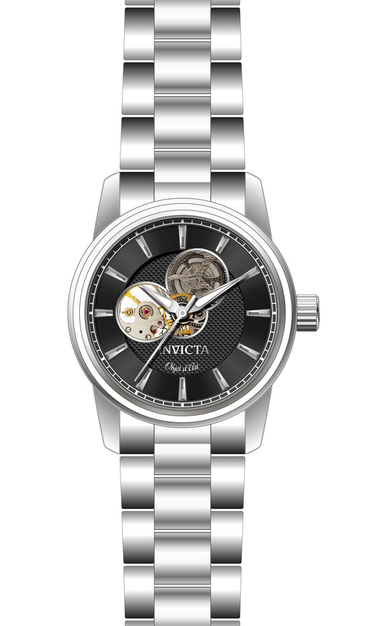 Invicta Men's 27559 Objet D Art Automatic 3 Hand Black Dial Watch