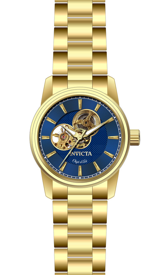 Invicta Men's 27562 Objet D Art Automatic 3 Hand Blue Dial Watch