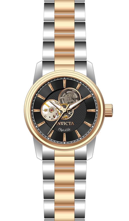 Invicta Men's 27563 Objet D Art Automatic 3 Hand Black Dial Watch