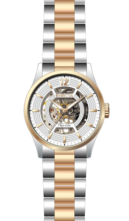 Invicta Men's 27573 Objet D Art Automatic 3 Hand White Dial Watch