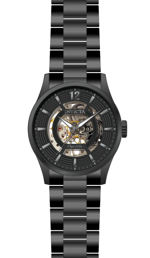 Invicta Men's 27574 Objet D Art Automatic 3 Hand Black Dial Watch