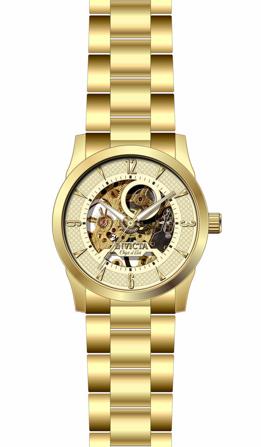 Invicta Men's 27583 Objet D Art Automatic 3 Hand Champagne Dial Watch