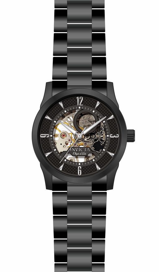 Invicta Men's 27585 Objet D Art Automatic 3 Hand Black Dial Watch