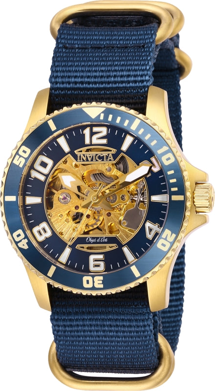 Invicta Men's 27591 Objet D Art Automatic 3 Hand Blue Dial Watch