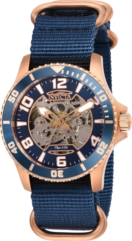 Invicta Men's 27592 Objet D Art Automatic 3 Hand Blue Dial Watch