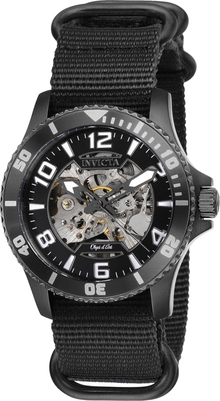 Invicta Men's 27593 Objet D Art Automatic 3 Hand Black Dial Watch