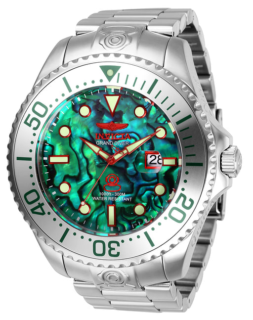 Invicta Men's 27597 Pro Diver Automatic 3 Hand Green Dial Watch