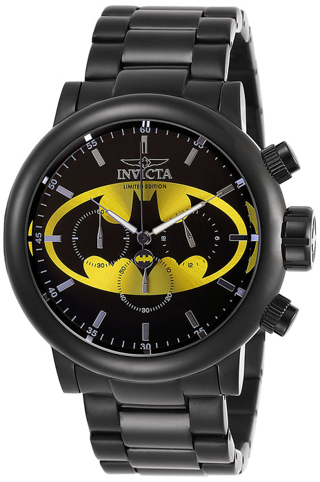 Invicta Men's 27607 DC Comics Quartz Chronograph Black, Yellow Dial Watch