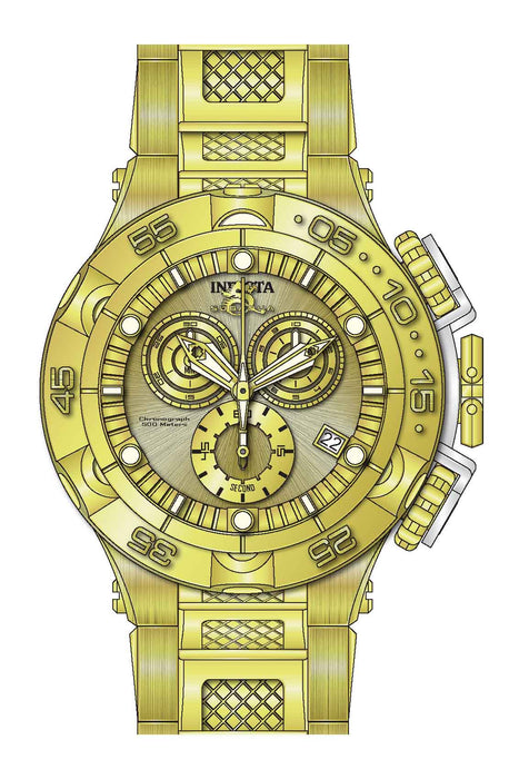Invicta Men's 27677 Subaqua Quartz Chronograph Gold Dial Watch