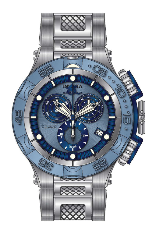 Invicta Men's 27679 Subaqua Quartz Chronograph Light Blue, Blue Dial Watch