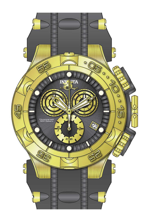Invicta Men's 27683 Subaqua Quartz Chronograph Gunmetal, Gold Dial Watch