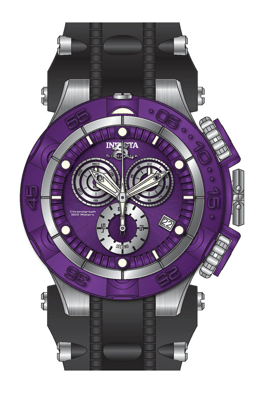 Invicta Men's 27686 Subaqua Quartz Chronograph Purple, Silver Dial Watch