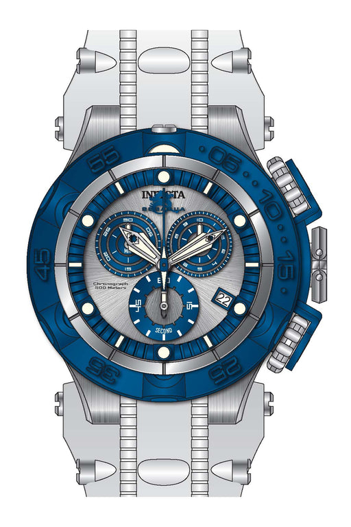 Invicta Men's 27689 Subaqua Quartz Chronograph Silver, Blue Dial Watch