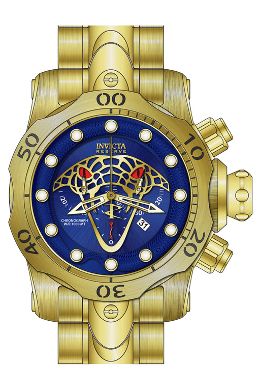 Invicta Men's 27763 Reserve Quartz Chronograph Blue, Gold Dial Watch