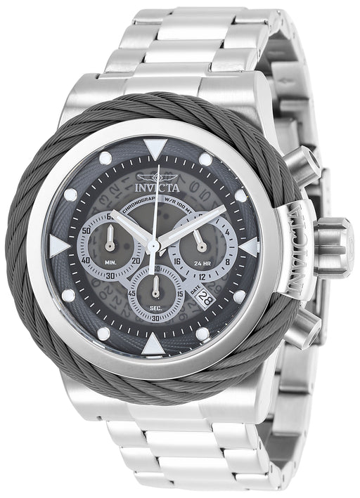 Invicta Men's 27796 Bolt Quartz Chronograph Grey, Black Dial Watch