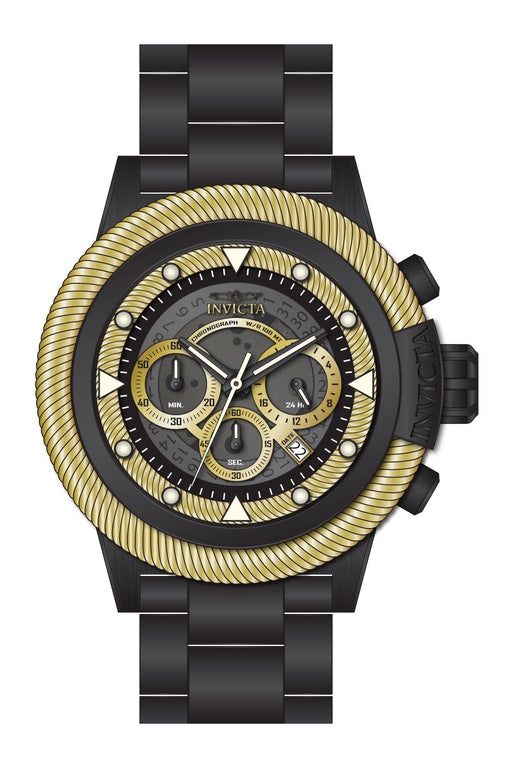 Invicta Men's 27807 Bolt Quartz Chronograph Grey, Gold Dial Watch