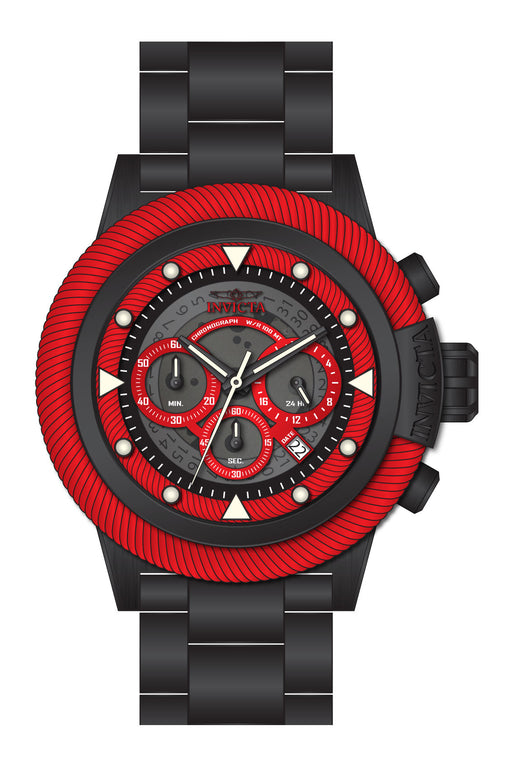 Invicta Men's 27810 Bolt Quartz Chronograph Grey, Red Dial Watch
