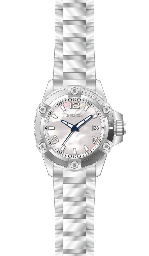Invicta Women's 27880 Pro Diver Quartz 3 Hand White Dial Watch