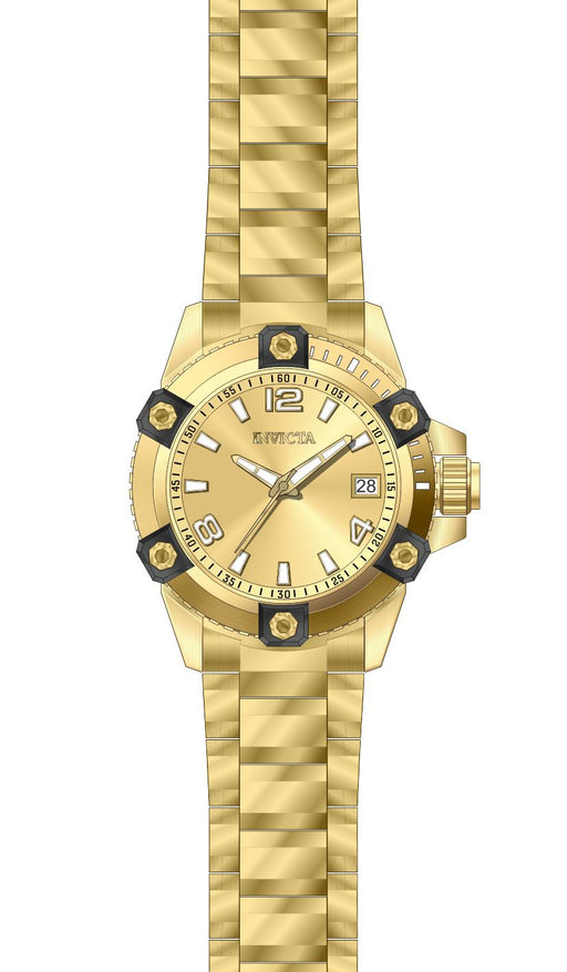 Invicta Women's 27881 Pro Diver Quartz 3 Hand Gold Dial Watch