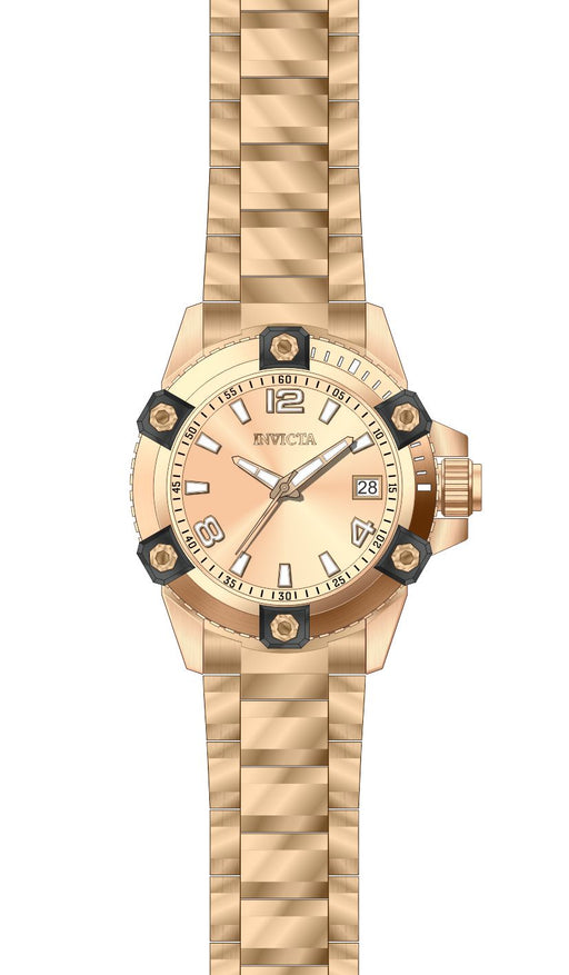 Invicta Women's 27883 Pro Diver Quartz 3 Hand Rose Gold Dial Watch