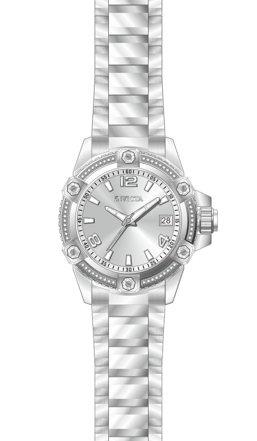 Invicta Women's 27887 Pro Diver Quartz 3 Hand Silver Dial Watch