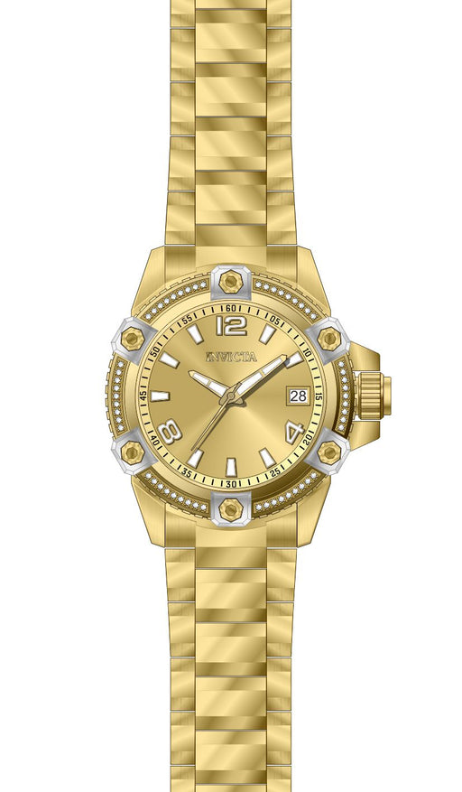 Invicta Women's 27888 Pro Diver Quartz 3 Hand Gold Dial Watch