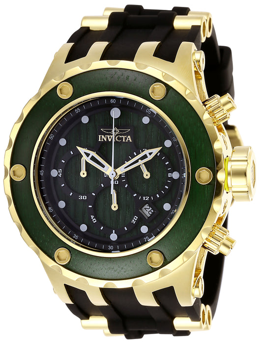 Invicta Men's 27912 Specialty Quartz Chronograph Green Wood Dial Watch