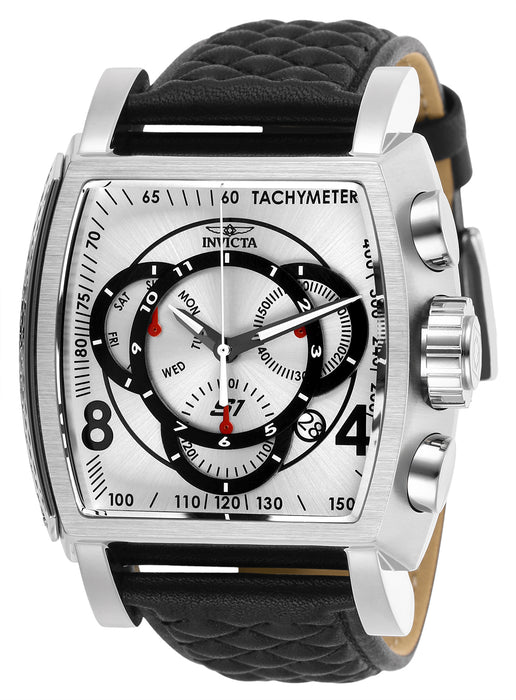 Invicta Men's 27918 S1 Rally Quartz Multifunction Silver, Black Dial Watch