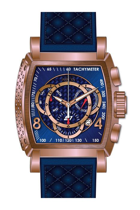 Invicta Men's 27935 S1 Rally Quartz Multifunction Blue, Rose Gold Dial Watch